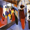 August Macke - Fashion Shop 1913