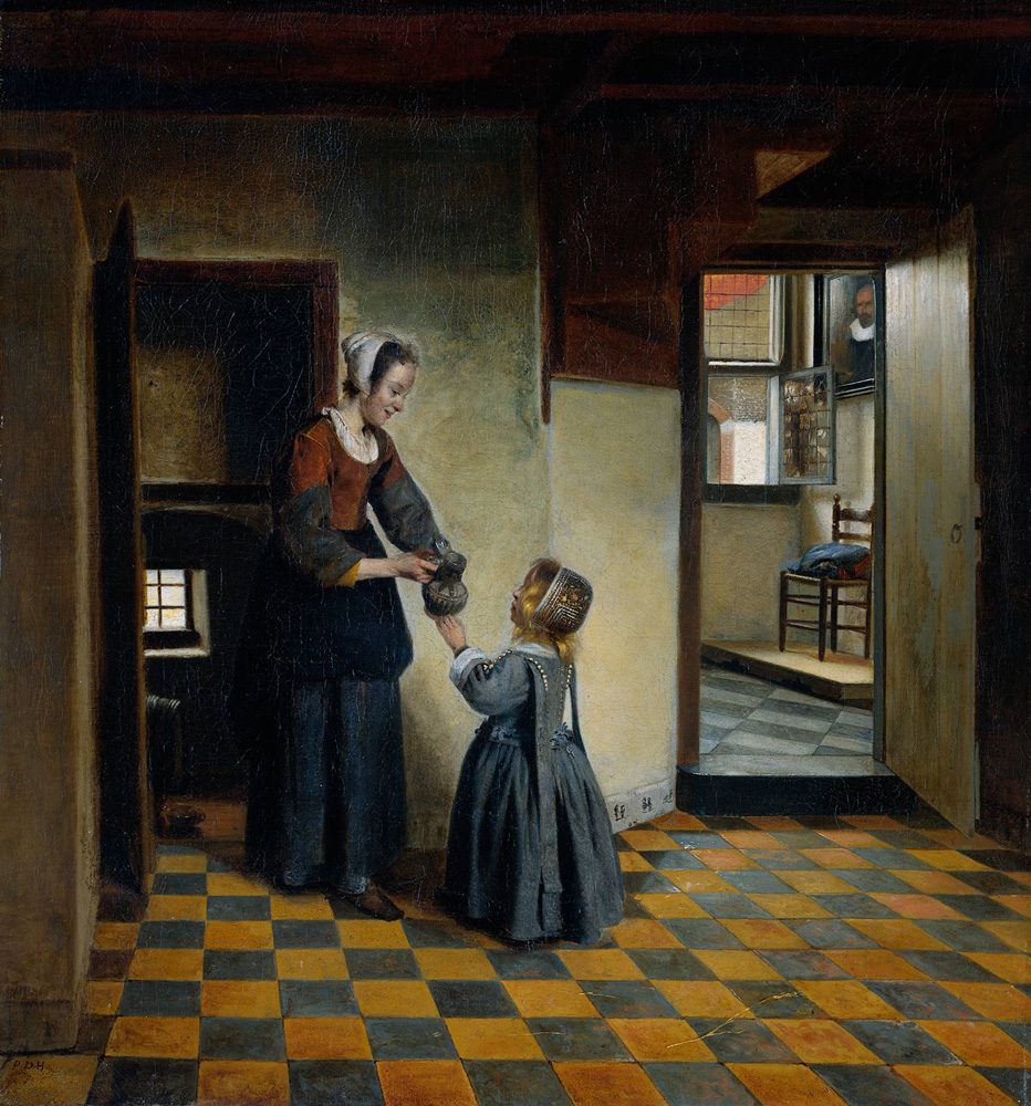 Hooch_Pieter_de_Woman_with_a_Child_in_a_Pantry