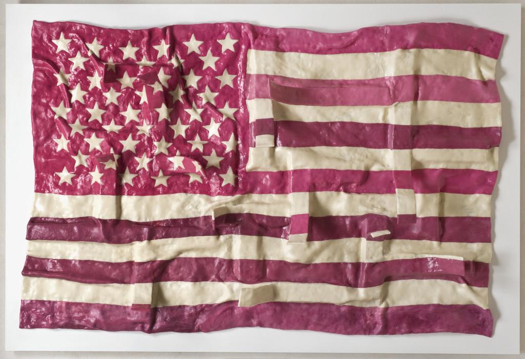 Maurizio-Savini-American-flag-fiberglass-chewingum-paraloid-cm-143x120-2011