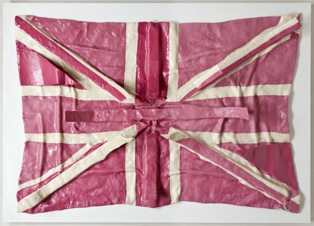 Maurizio-Savini-U.K.-Flag-fiberglass-chewingum-paraloid-cm-143x120-2011