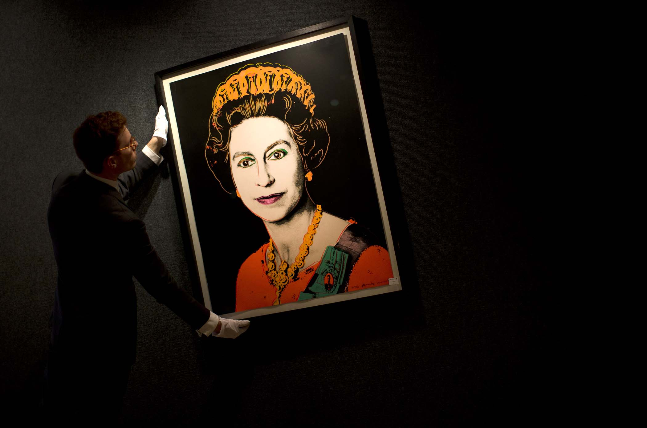 Britain Bonhams Warhol Queen