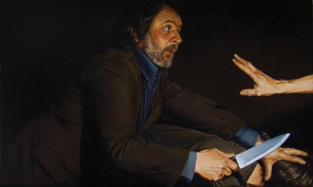Евгений Равский, Жертвоприношение,2010,холст, масло
