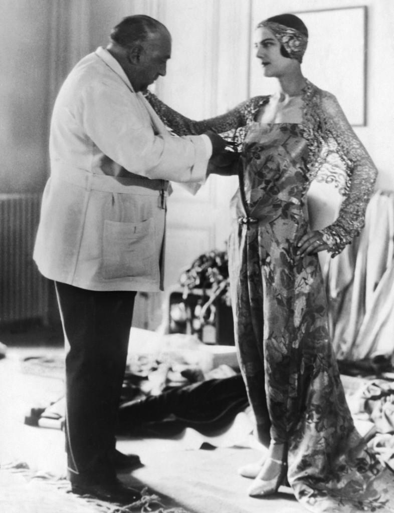 Paul Poiret Fitting Woman in Dress