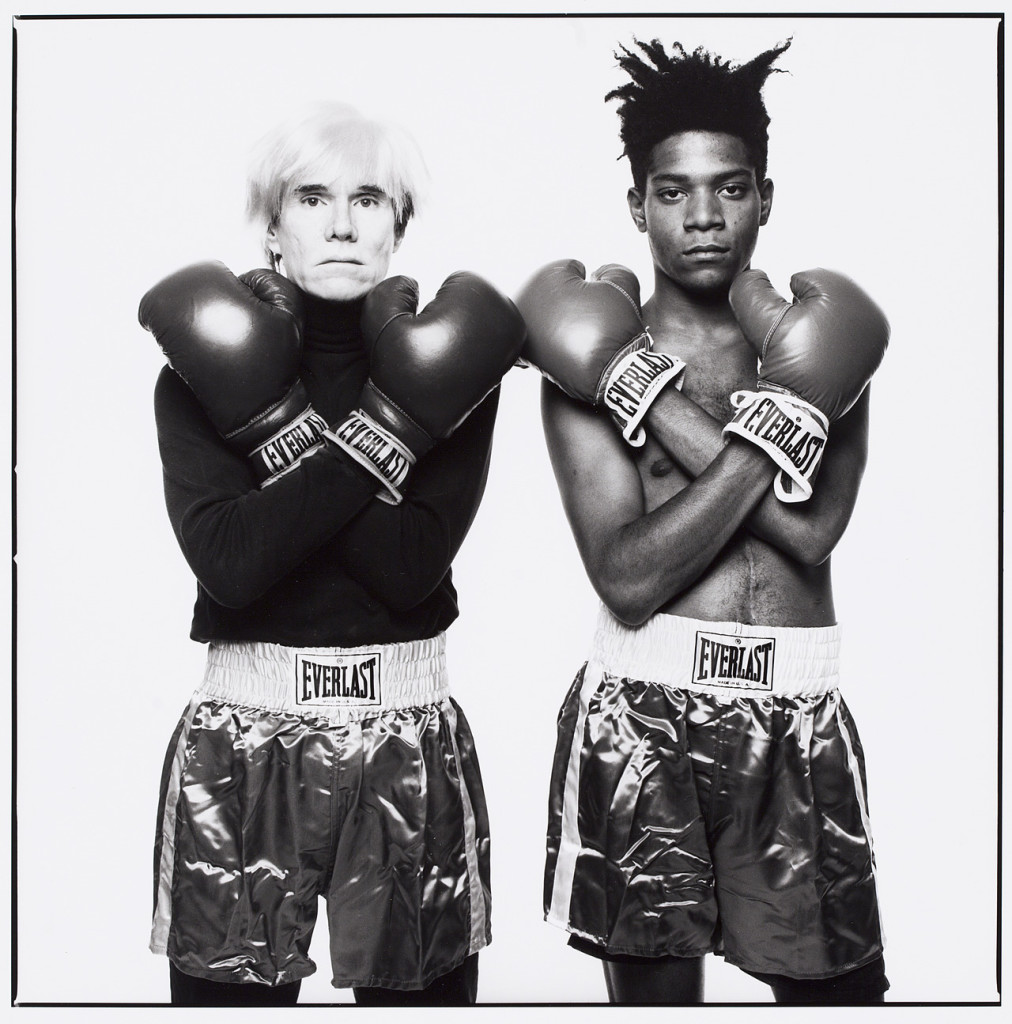 Michael Halsband Andy Warhol and Jean-Michel Basquiat 1985 Gelatin Silver Print