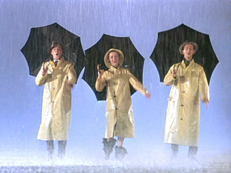 співаючи під дощем