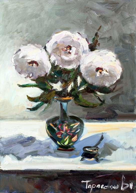 в.тарасенко_Белые цветы_60х80