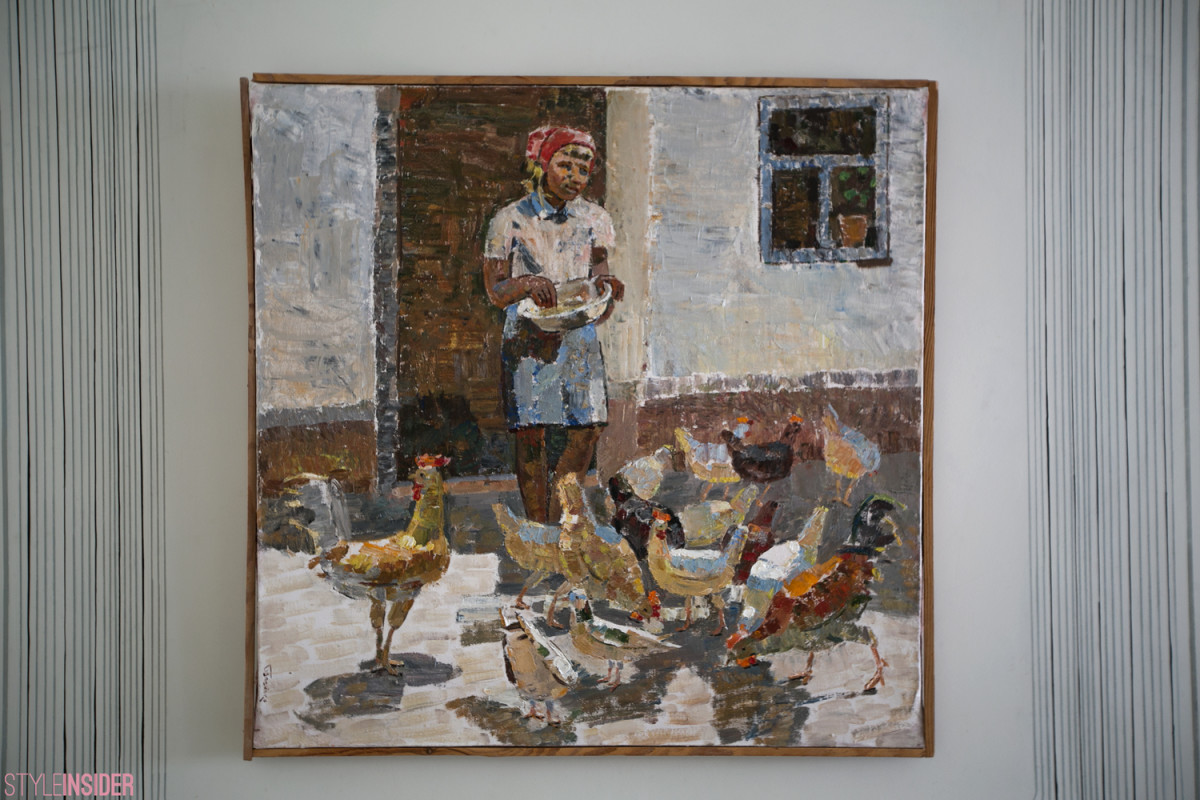 Анна Копылова, коллекция. Г. Шпонько «Курочки» 1960-е гг. х/м