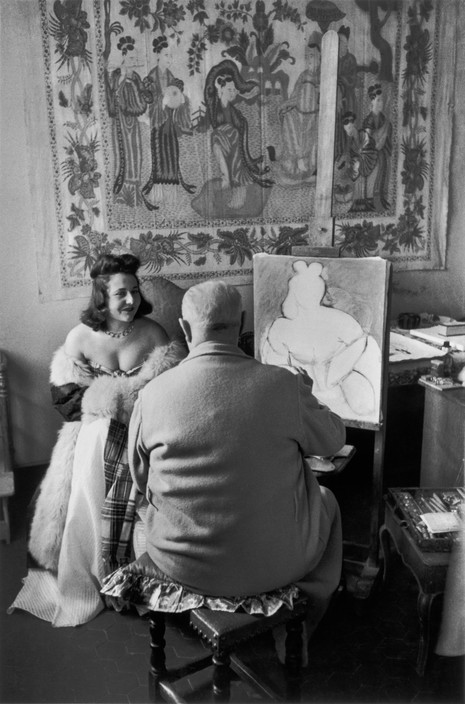 FRANCE. Nice. Cimiez district. February 1944. French painter Henri MATISSE, with his model Micaela AVOGADRO.