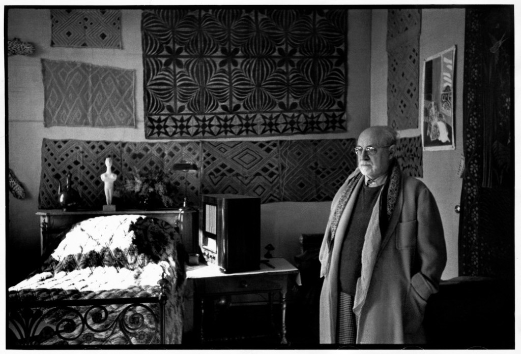 "FRANCE. Alpes-Maritimes. Vence. February 1944. French painter Henri MATISSE at his home, villa ""Le Rêve""."