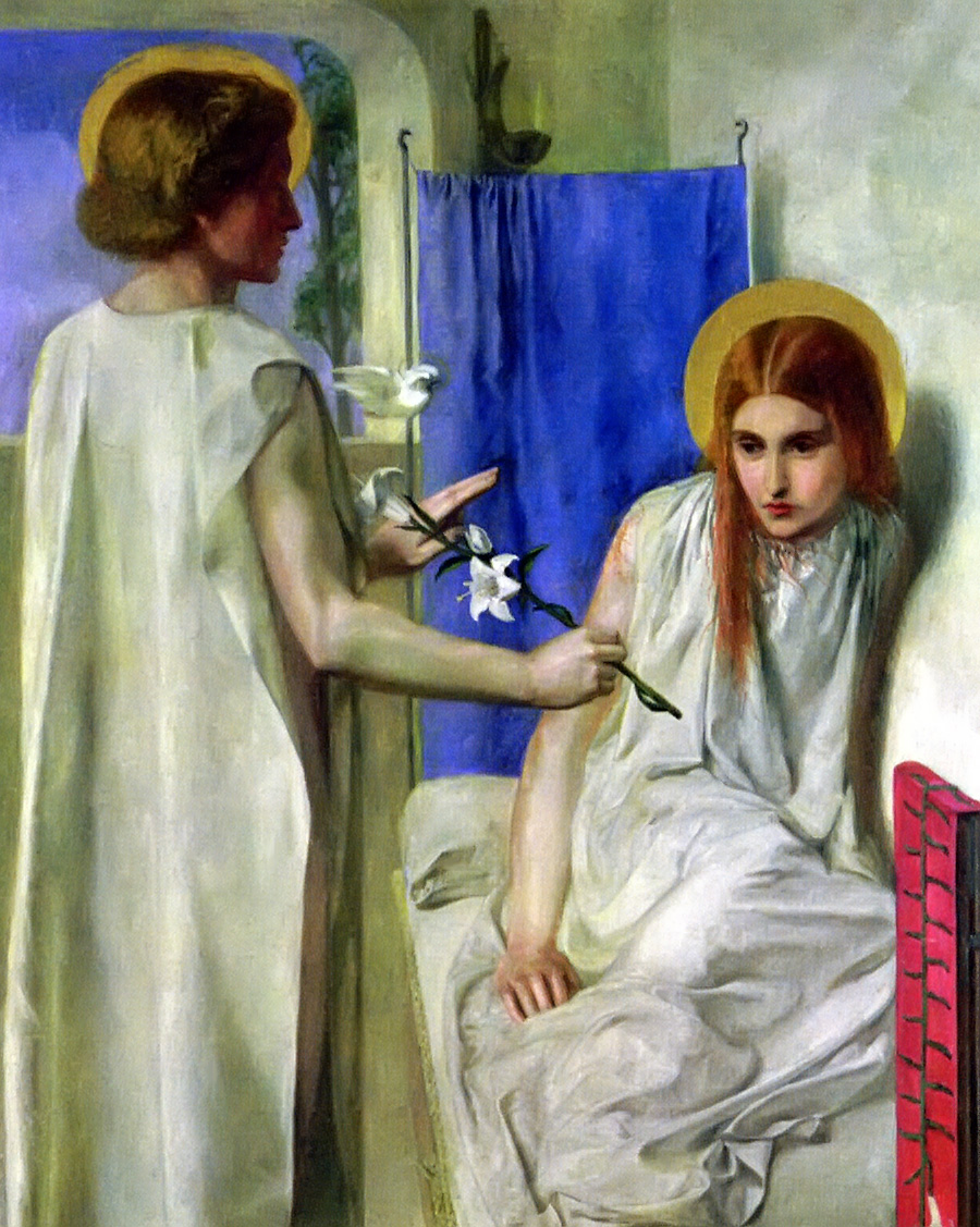 The Annunciation by Dante Gabriel Rossetti