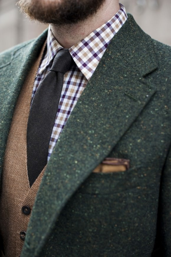 Green-Tweed-with-brown-vest-by-TSBMen