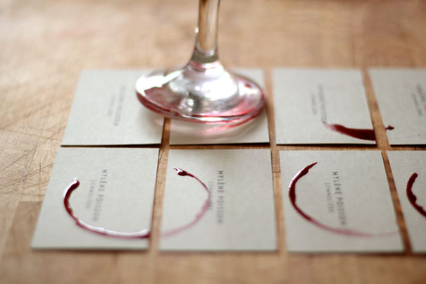Sommelière Wineglass Business Card