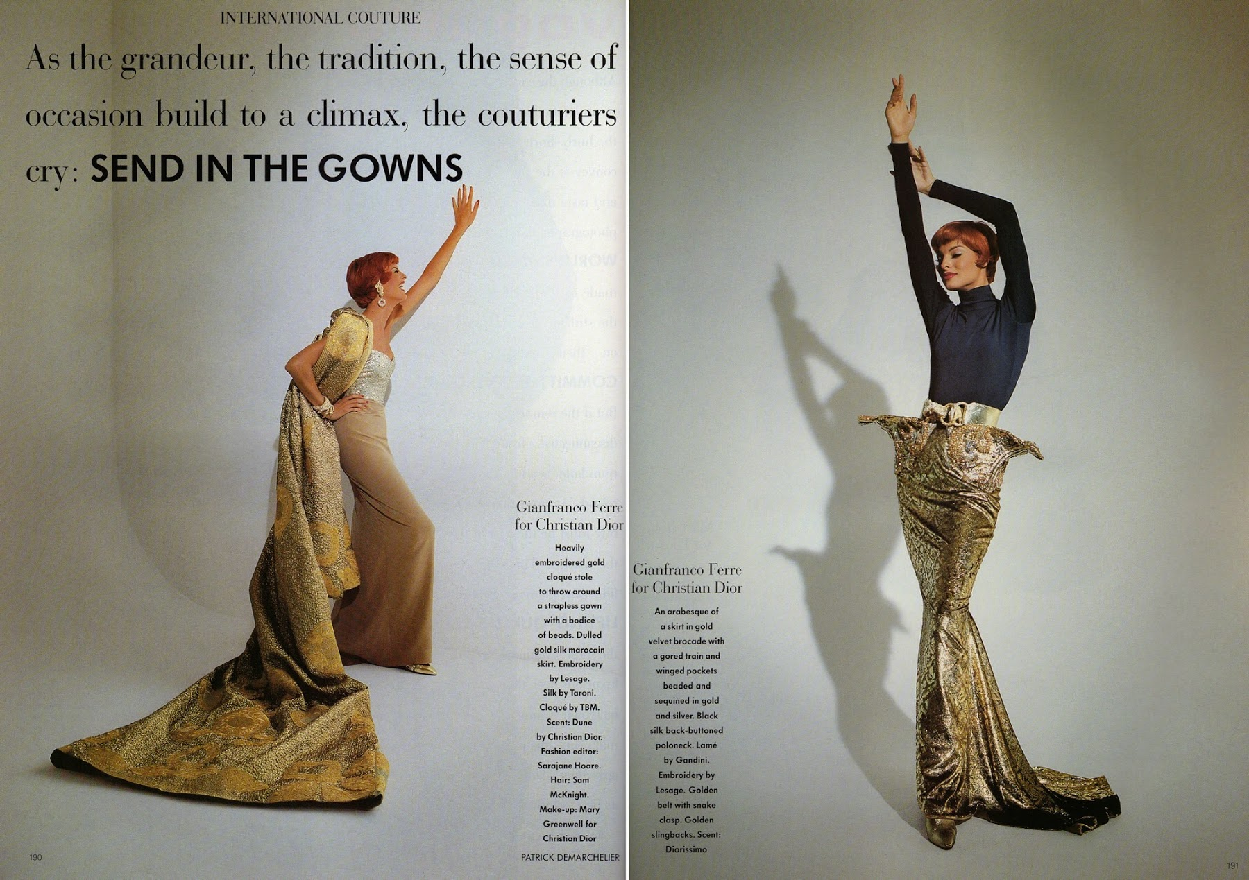 UK Vogue October 1991 Linda Evangelista Patrick Demarchelier Haute Couture_5