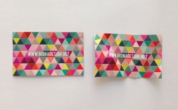 Визитная карточка MonaDesign Corporate Identity от Ayse Dogan