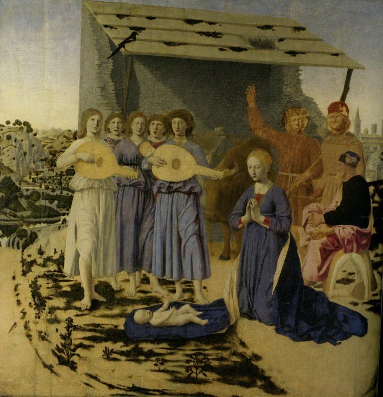 Пьеро делла Франческа, Рождество, масло, дерево, 1470-1475