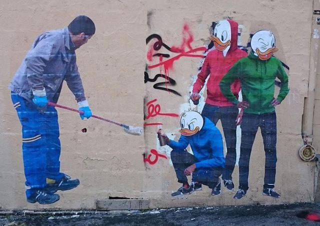 уличный художник Combo