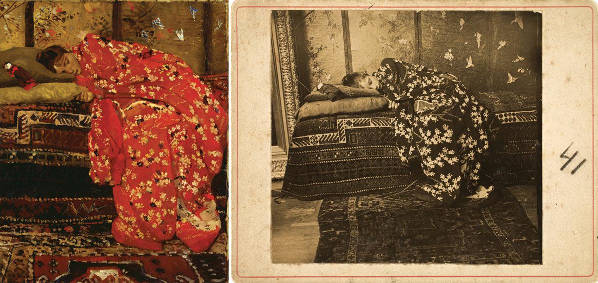 Георг Хендрик Брейтнер, Девушка в красном кимоно
