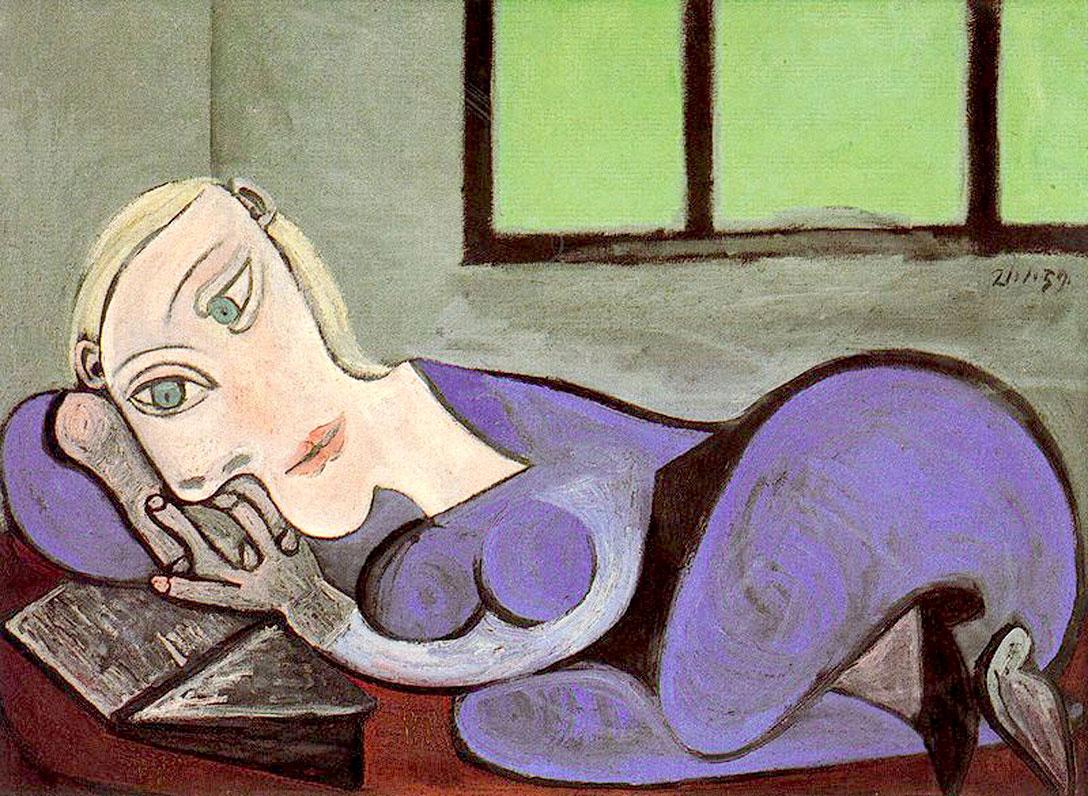 Пабло Пикассо, Лежащая женщина читает, 1960