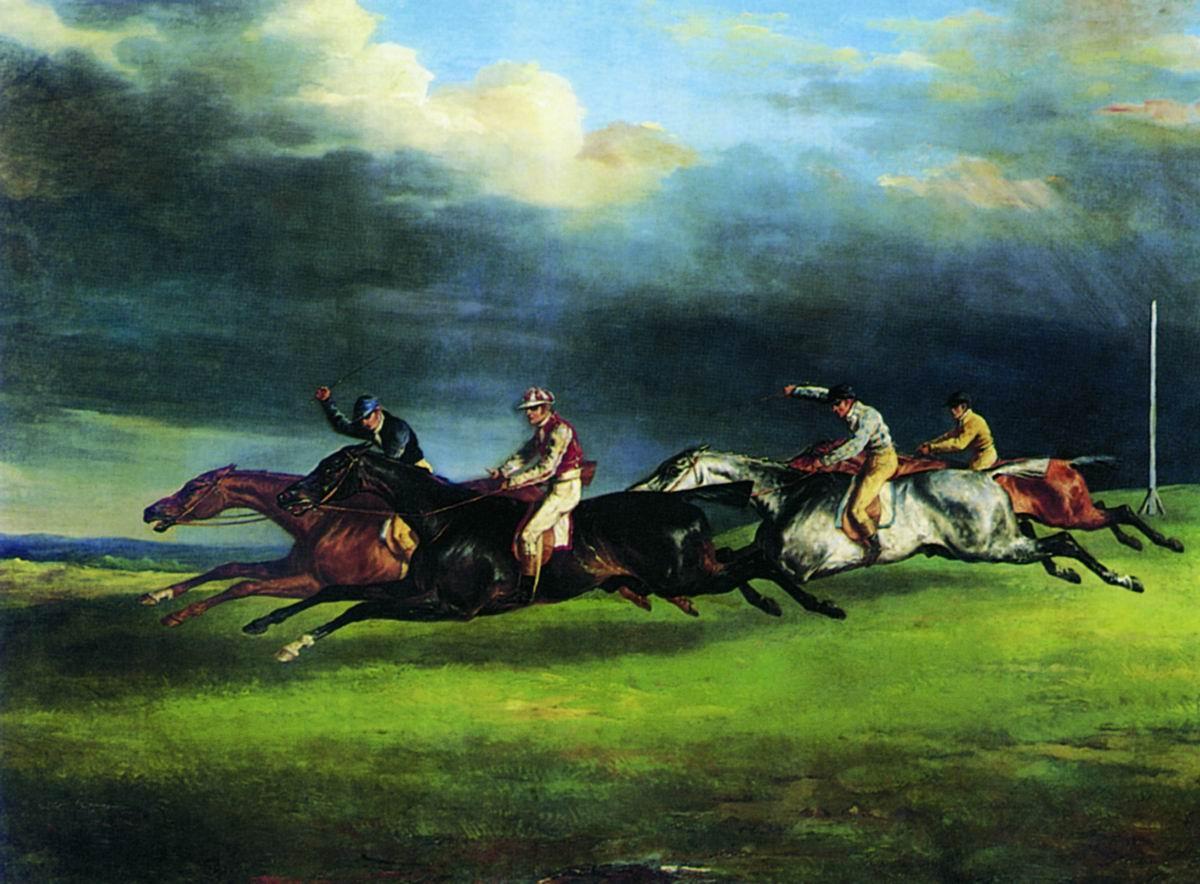 Теодор Жерико, Скачки в Эпсоме, 1821