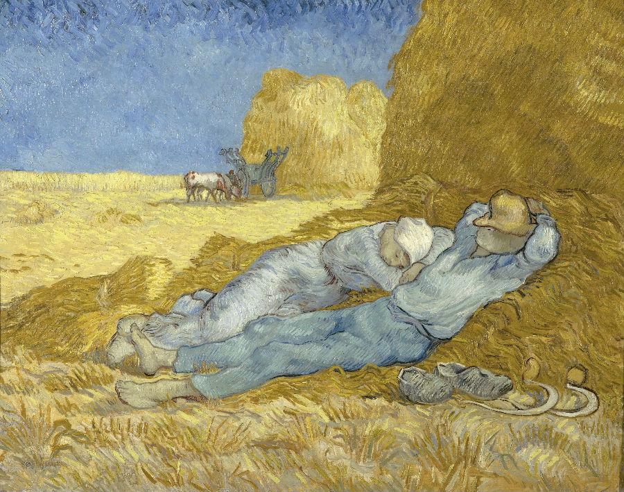 Винсент Ван Гог, Полуденный отдых (цитата Милле), 1890