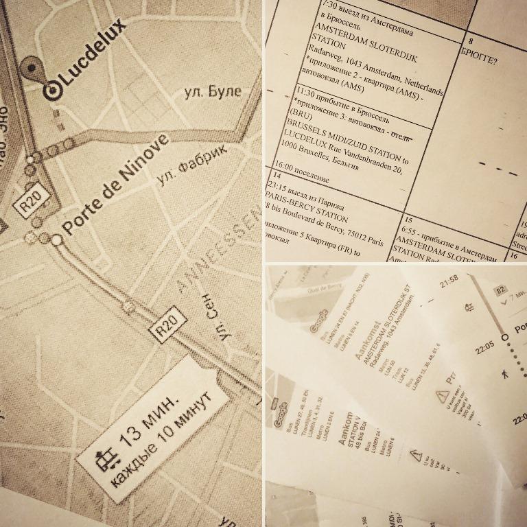 планирование путешествий