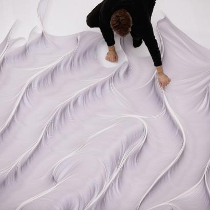 Абстрактные бумажные инсталляции Даниэля Папули
