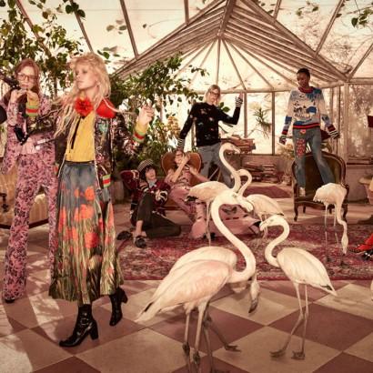 Танцы с фламинго в новой рекламной кампании Gucci