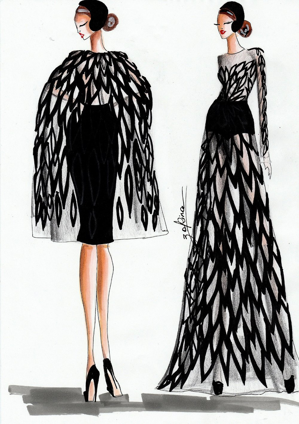 fashion–иллюстратор Виктория Зорина