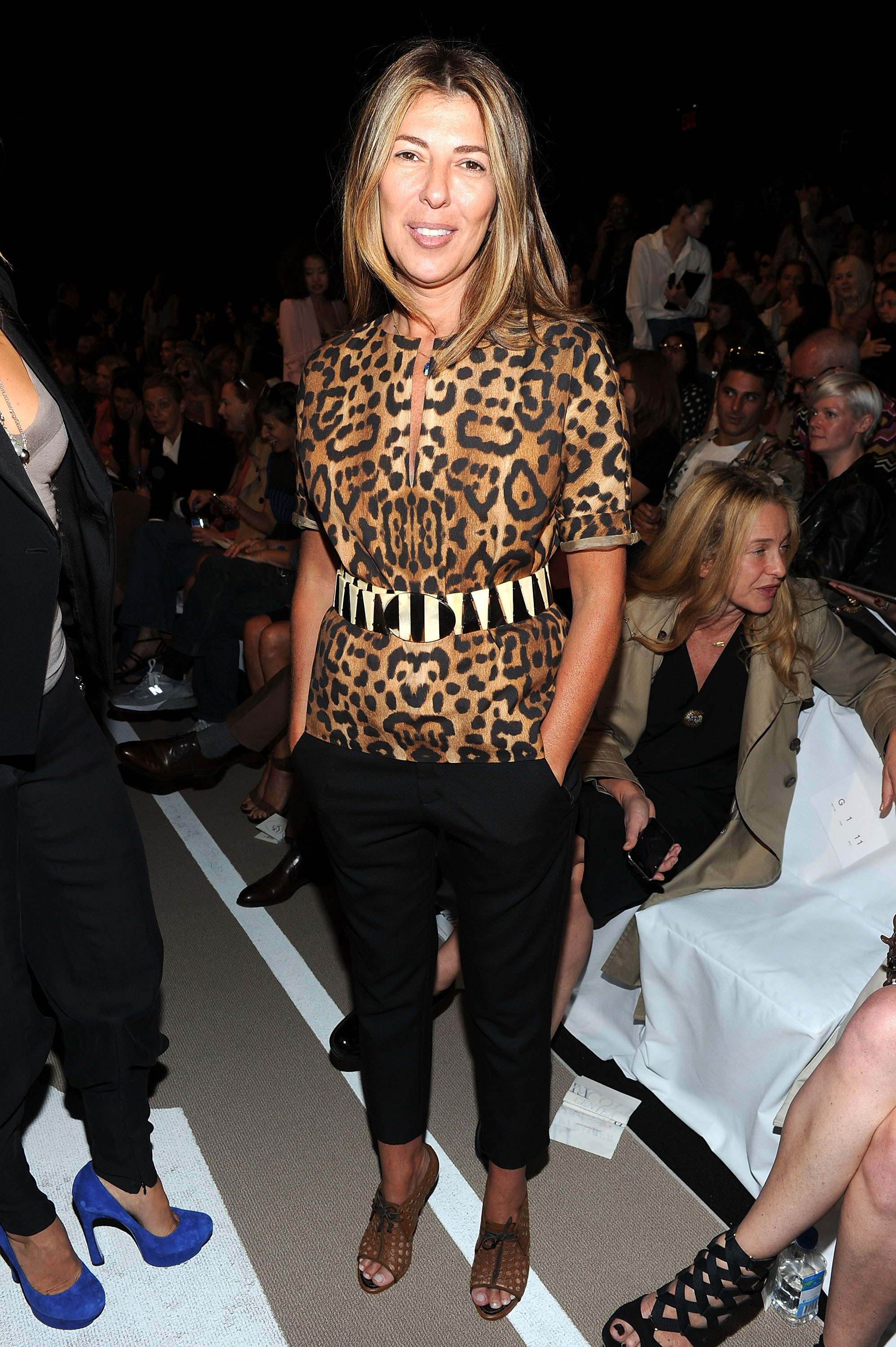 NEW YORK, NY - SEPTEMBER 11: Nina Garcia attends the Diane Von Furstenberg Spring 2012 fashion show during Mercedes-Benz Fashion Week at The Theater at Lincoln Center on September 11, 2011 in New York City. (Photo by Jason Kempin/Getty Images for Mercedes-Benz Fashion Week)