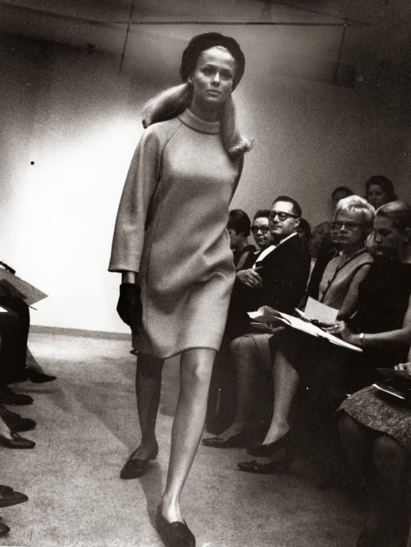 PUBLISHED CAPTION: Tiffeau's sweater dress. July 7, 1966. (Chicago Tribune photo)