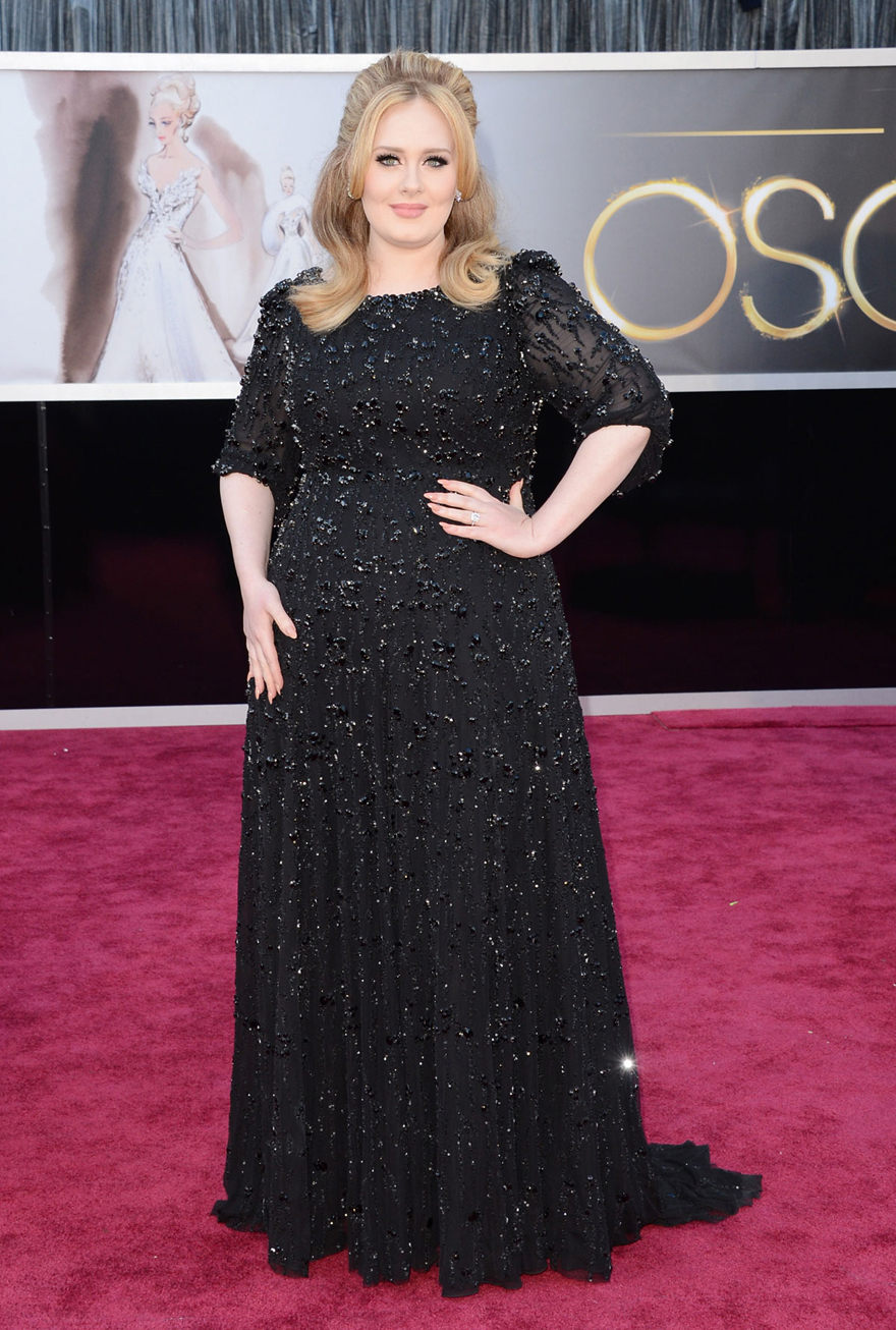 ADELE at 85th Annual Academy Awards at the Dolby Theatre in Hollywood