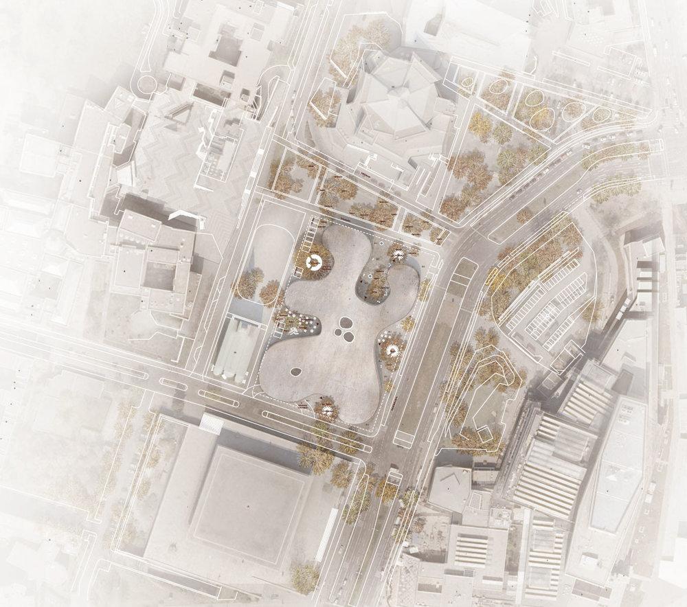 Siteplan_museum_des_20jahrhunderts_Lundgaard_Tranberg