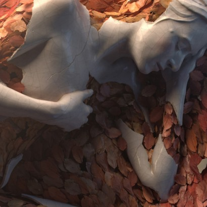 скульптуры и цветы