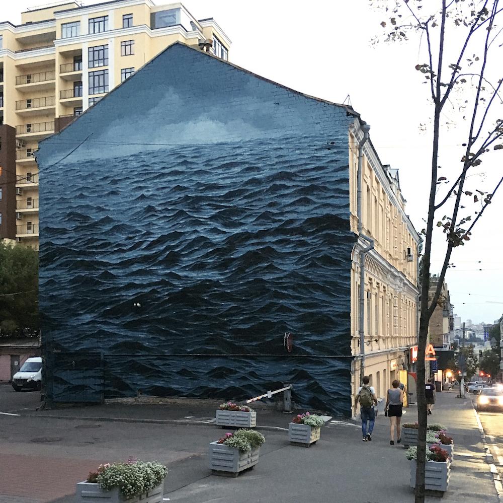 мурал море