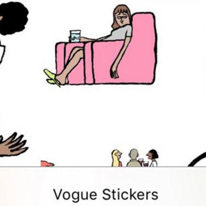 стикеры Vogue