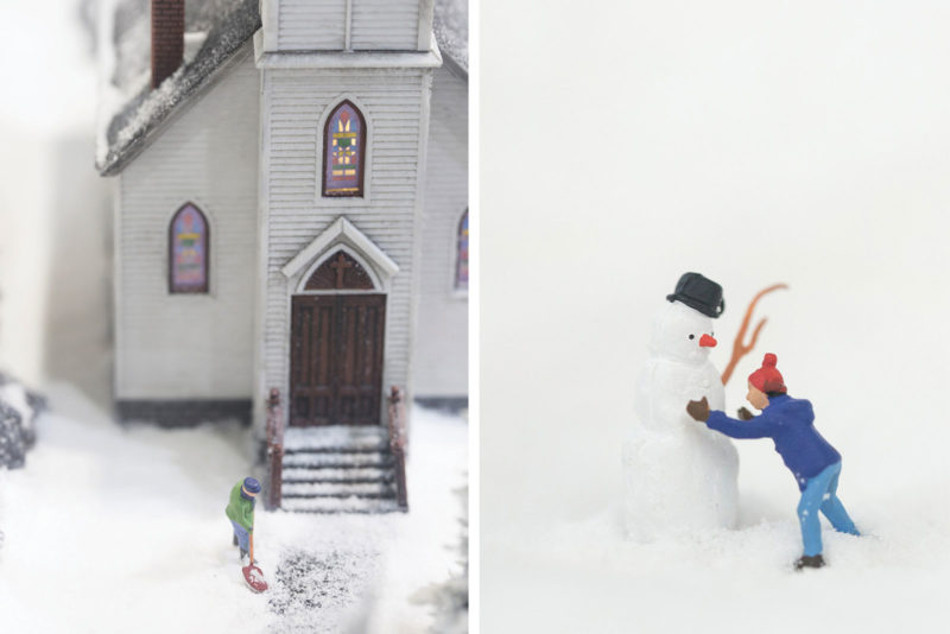 снежные миниатюры