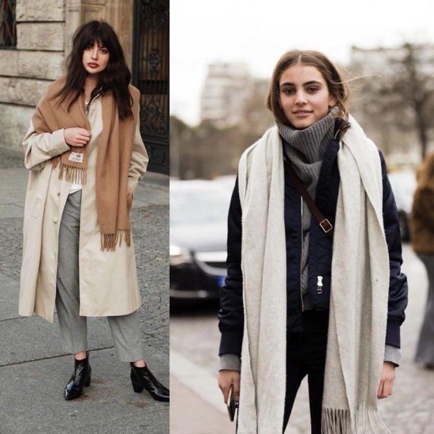 образ с шарфом