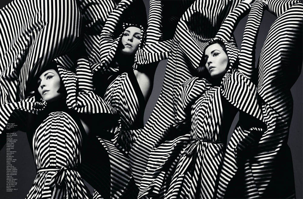 Noomi-Rapace-striped-Gareth-Pugh-dress-Dazed-and-Confused