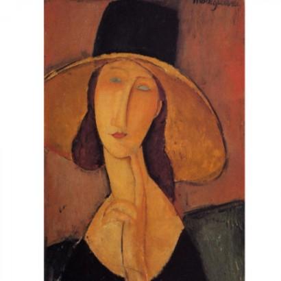 Портрет Жанны Эбютерн в большой шляпе