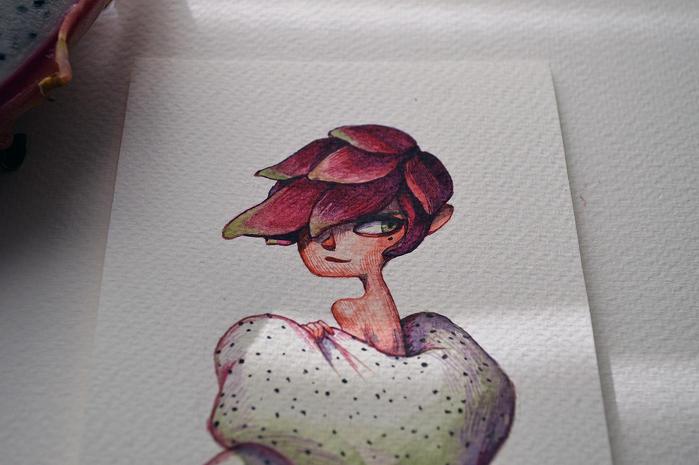 иллюстрации с фруктами
