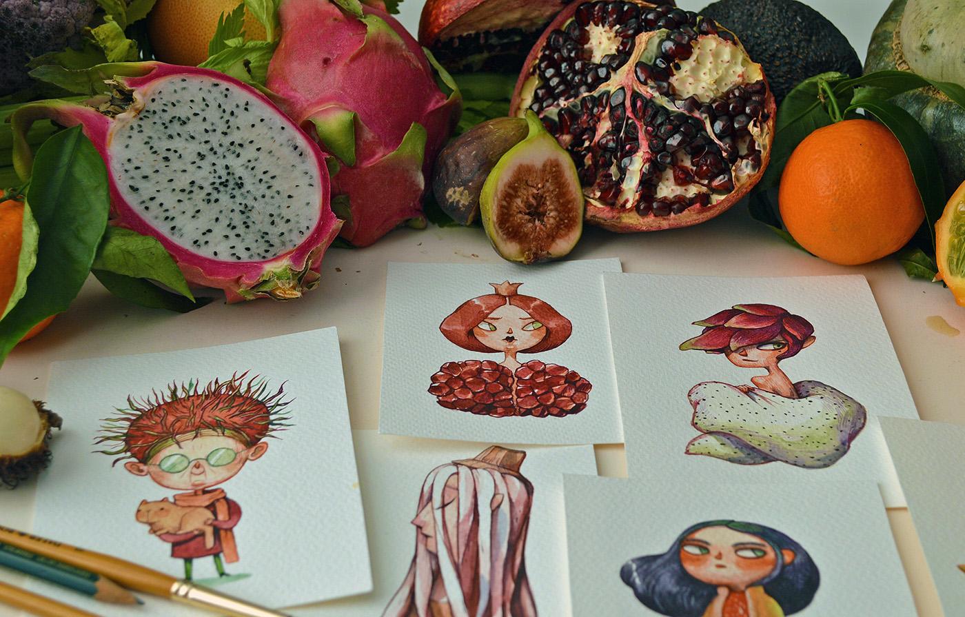 овощные иллюстрации