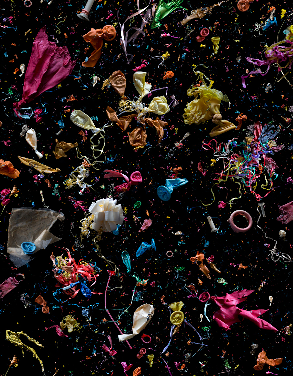 Ingredients; marine debris balloons collected from around the world.