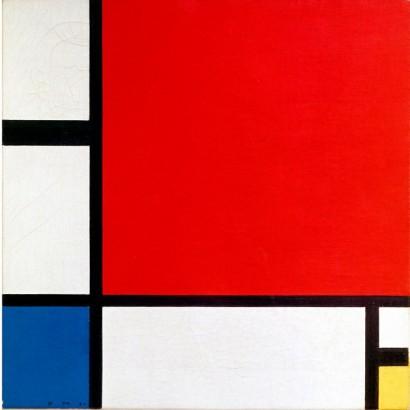 Композиция с красным, синим и жёлтым