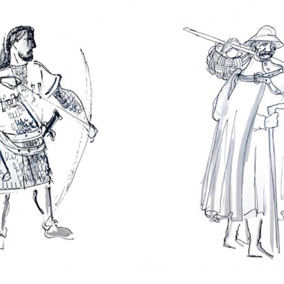 Costume designs for 'Chimes at Midnight,'