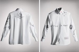 Кейт Мосс и другие показали свои версии рубашки Карла Лагерфельда
