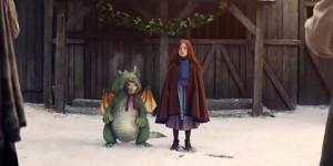 Девочка дружит с маленьким драконом в рождественской рекламе John Lewis