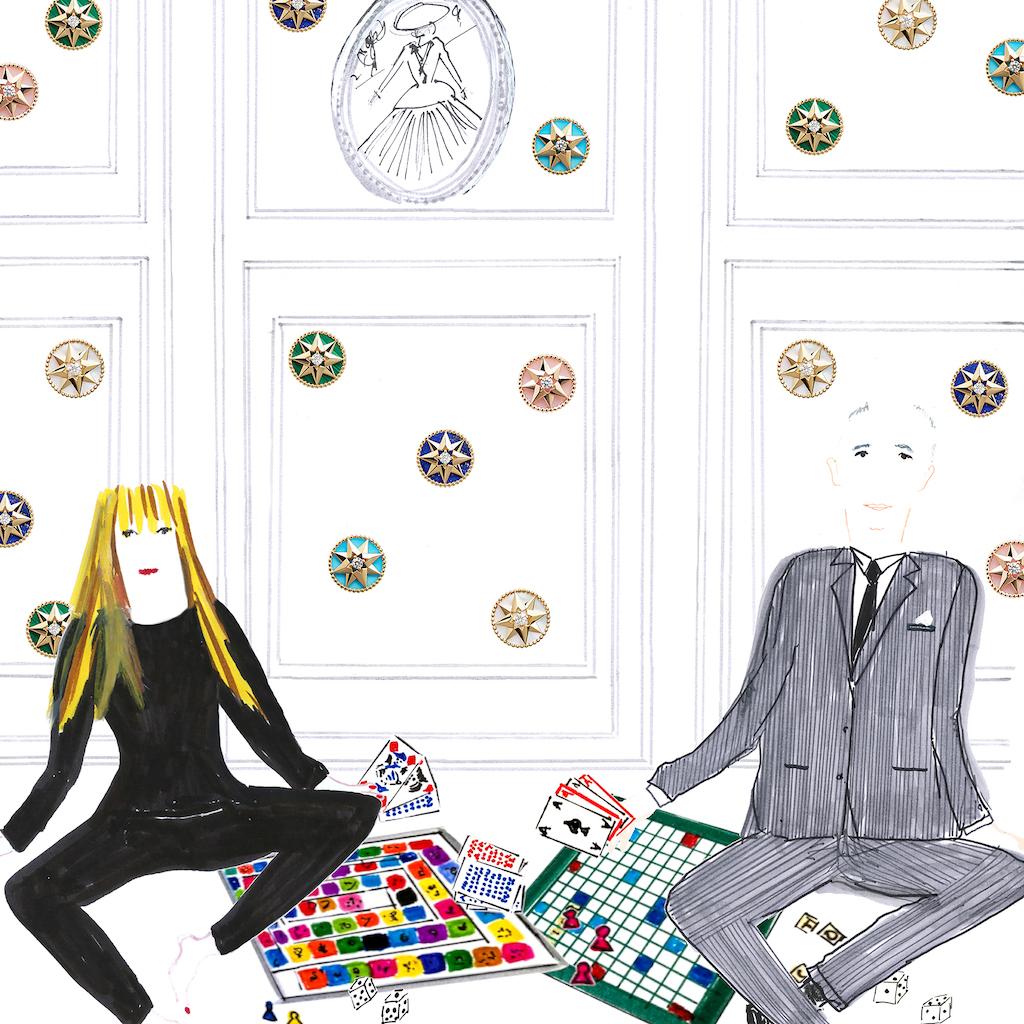 скетчи Dior