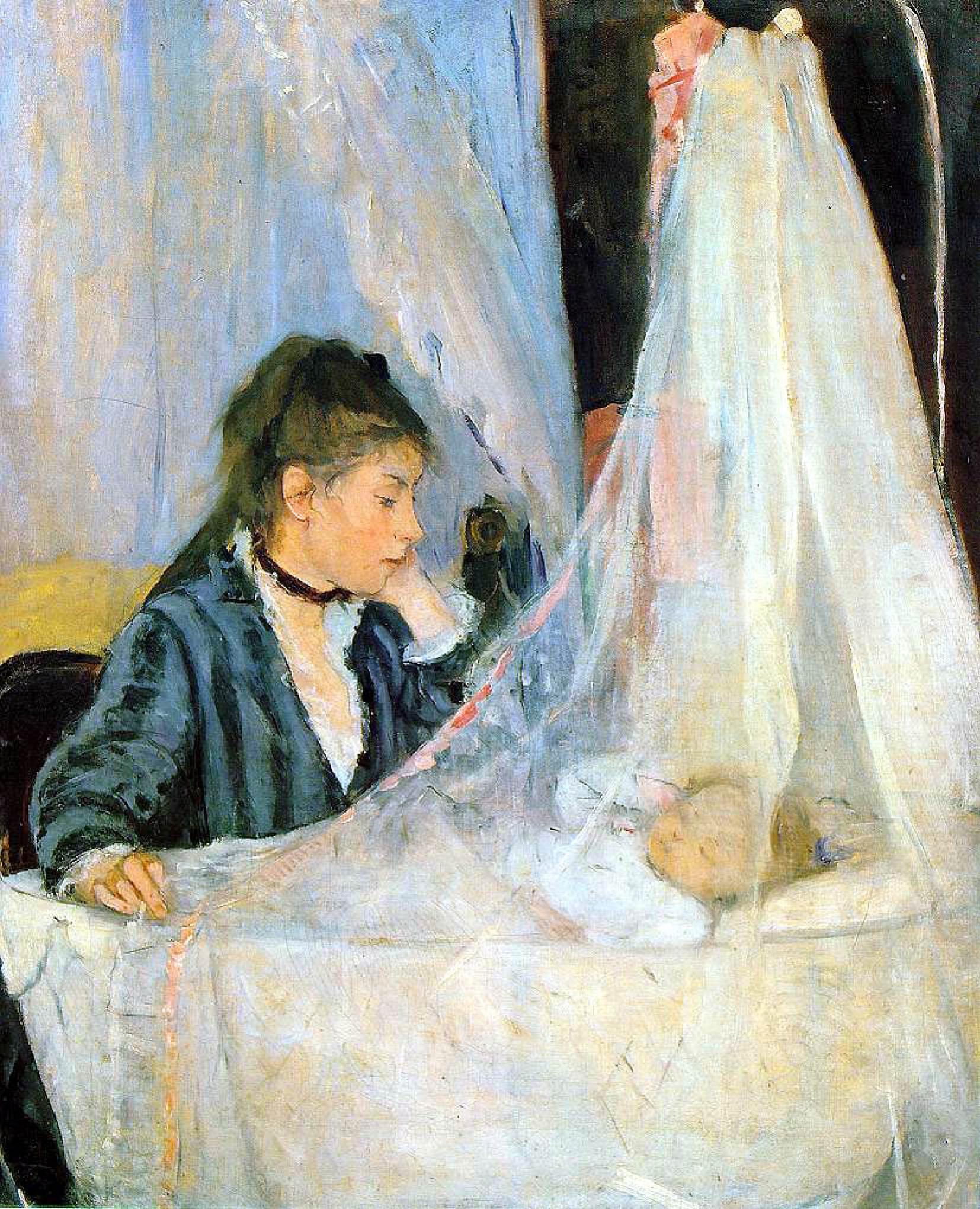 Берта Моризо Колыбель 1872
