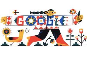 Украинская художница нарисовала для Google дудл в честь Дня вышиванки