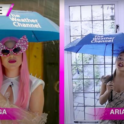Леди Гага и Ариана - ведущие прогноза погоды